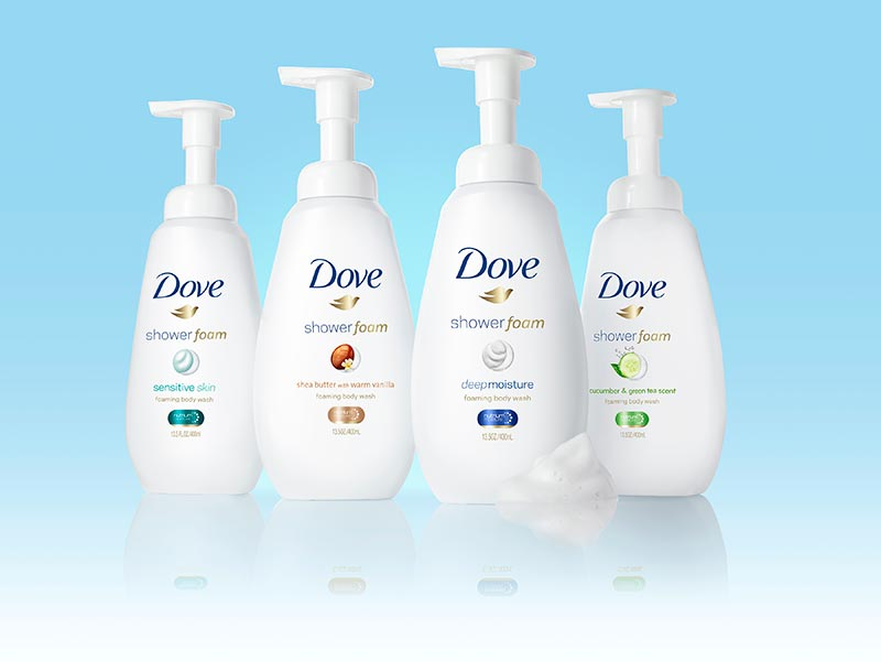 Dove Shower Foam Retouched Ad