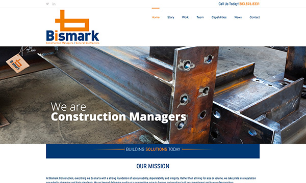 Bismark Construction Website