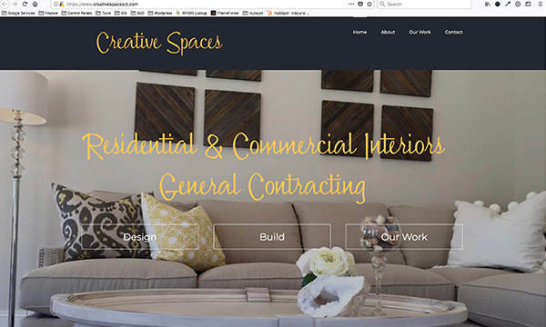 Creative Spaces Website