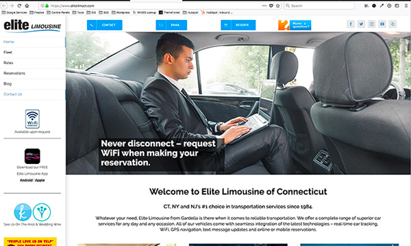 Elite Limousine Website