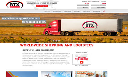 BTX Global Logistics Website