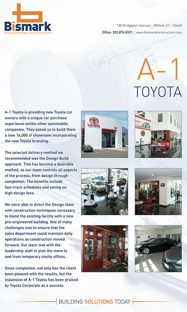 Bismark Construction-Toyota Case Study